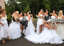 Thumbnail image for Dress all your Bridesmaids in Wedding Gowns